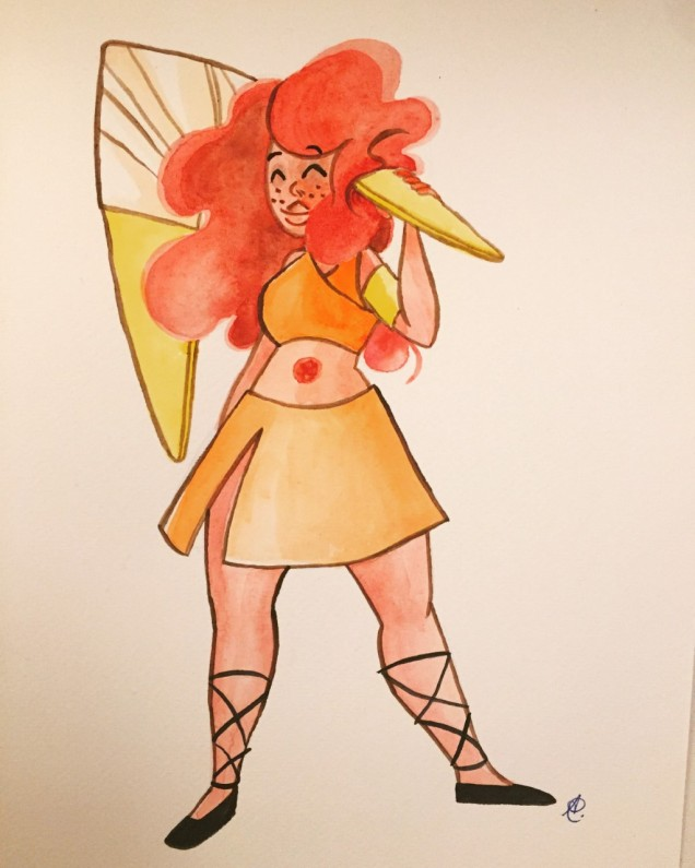 sunstone watercolour